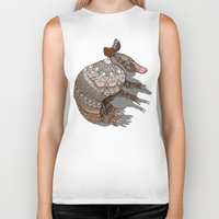 ornate Biker Tanks featuring Ornate Armadillo by ArtLovePassion