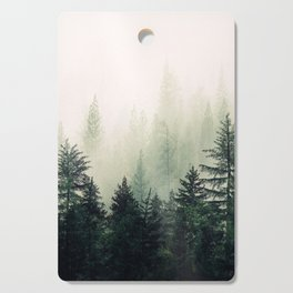 Foggy Pine Trees Cutting Board