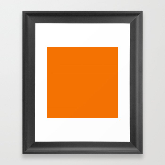 Neon Orange Gerahmter Kunstdruck