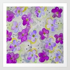 Radiant Orchid Print Art Print