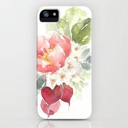 Watercolor Radish Bouquet iPhone Case