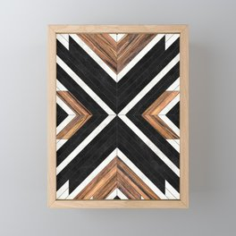 Urban Tribal Pattern No.1 - Concrete and Wood Framed Mini Art Print