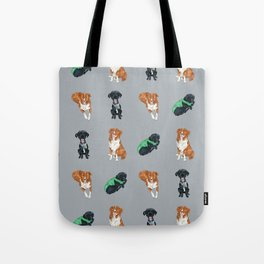 Ness and Poe, Dog Brothers Tote Bag