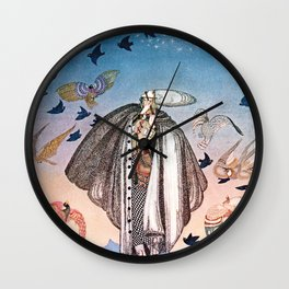 """Birds in The Sky"" Kay Nielsen Fairytale Illustration Wall Clock"