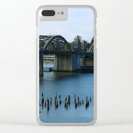 Siuslaw River Bridge - Florence Clear iPhone Case