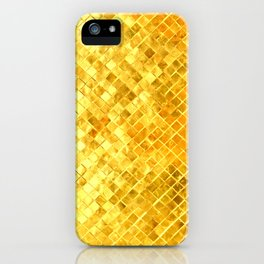 Give me Gold: festive, golden, fashionable, 3-d, glittery, Christmas, cheerful, lattice design iPhone Case