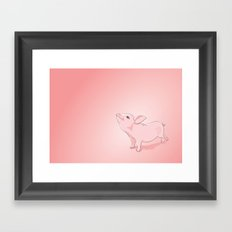 Little Pig Framed Art Print