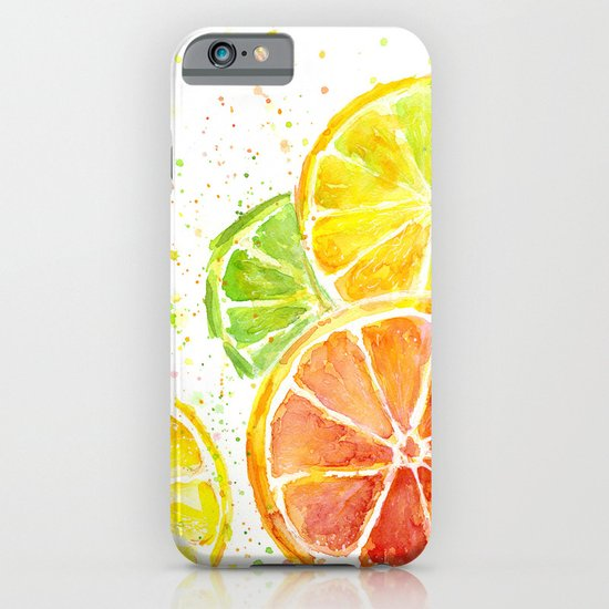 Fruit Watercolor Citrus iPhone & iPod Case