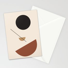 L'ascesa - On The Rise - modern abstract art hand drawn Stationery Cards