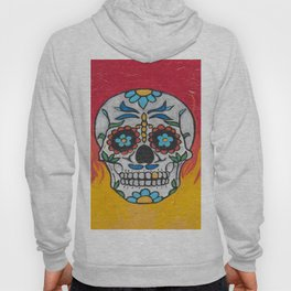DAY OF THE DEAD - FLAMING RED VOODOO Hoody