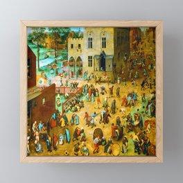 Pieter Bruegel the Elder Children's Games Framed Mini Art Print