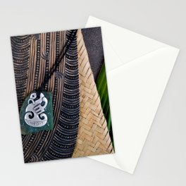 NZ Maori Culture Theme - Metal Manaia And Patu Stationery Cards