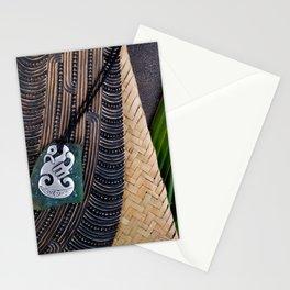 NZ Maori Culture Theme - Metal Manaia And Patu Stationery Cards