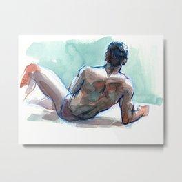 MICHAEL, Semi-Nude Male by Frank-Joseph Metal Print