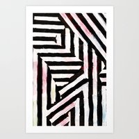 striped Art Prints featuring Striped by ST STUDIO