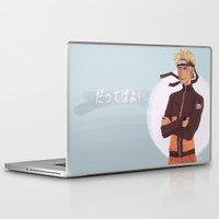 kakashi Laptop & iPad Skins featuring Dattebayo! by Gianbe
