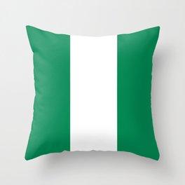 Nigerian Flag of Nigeria Throw Pillow
