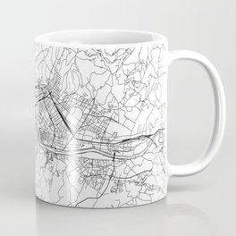 Florence White Map Coffee Mug