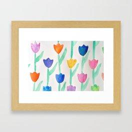 -happy tulips- Framed Art Print