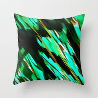 camo Throw Pillows featuring CAMO BRONX by Chrisb Marquez