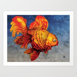 Ryukin Art Print
