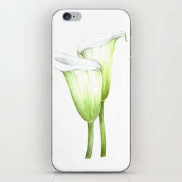 White Calla Lillies iPhone Skin
