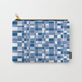 Mod Gingham - Blue Carry-All Pouch