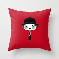 chaplin Throw Pillows featuring chaplin by guizmo04