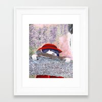 hunting Framed Art Prints featuring Hunting  by Katty Huertas