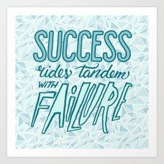 Success Rides Tandem Art Print