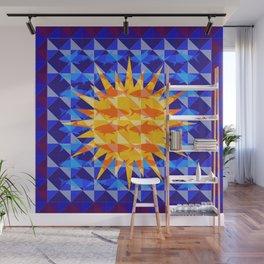 Sunsharks On Blue. Wall Mural