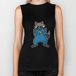 superhero badger Biker Tank