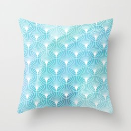 Mermaid Fans: Ocean Mist Throw Pillow