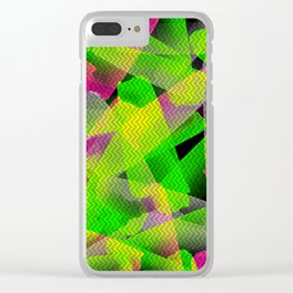 I Don't Do Normal - Abstract Print Clear iPhone Case