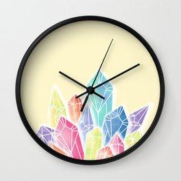 Crystals Yellow Wall Clock