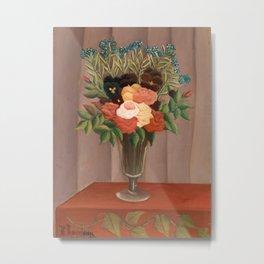Bouquet of Flowers - Henri Rousseau Metal Print