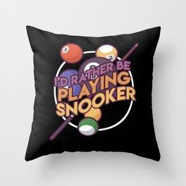 Billard Billards Games Pool Gift Idea Throw Pillow
