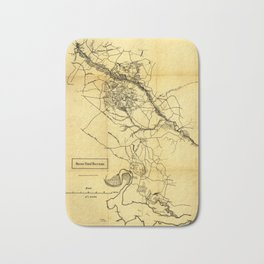 Map of the Civil War Seven Days' Battles (June 25 - July 1, 1862) Bath Mat