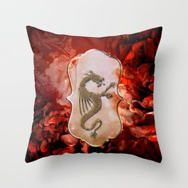 Beautiful chinese dragon Throw Pillow
