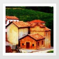 italian Art Prints featuring ✔️Italian Farmhouse by Tru Images Photo Art