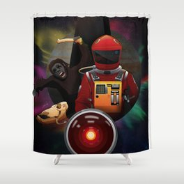 2001: A Space Odyssey T-Shirt Shower Curtain