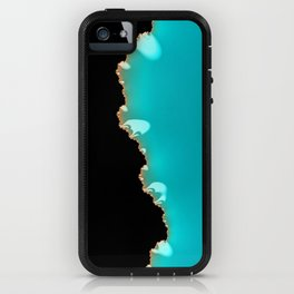 Creeping Teal with a Gold Edge iPhone Case