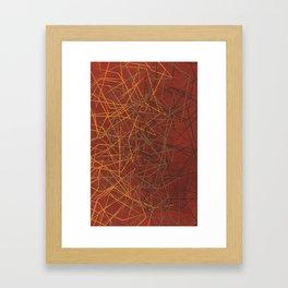 Broken Glass (Burnt Sienna) Framed Art Print