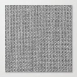 Natural Woven Silver Grey Burlap Sack Cloth Canvas Print