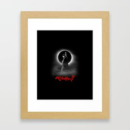 The Black Swordsman Framed Art Print