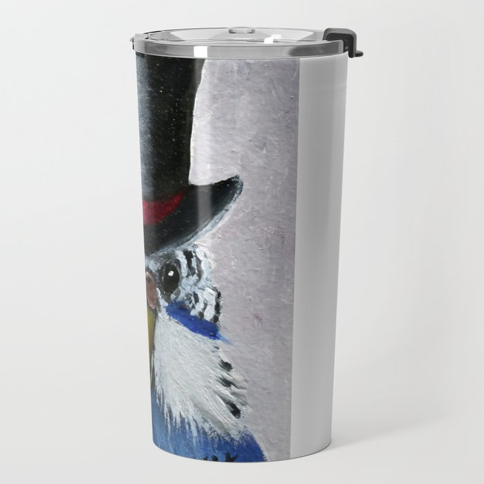 Parakeet Hat Parade #7 Brock Travel Mug