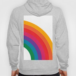 Retro Bright Rainbow - Right Side Hoody