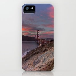 Golden Gate Bridge at Sunset iPhone Case