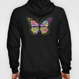 Pansexual Butterfly design Streetwear Graffiti Hand Drawn Hoody