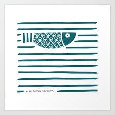 PIXE 1 (dark blue) Art Print